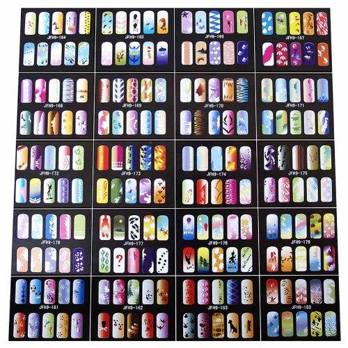 Paasche Airbrush Nail Stencils, 200 Designs