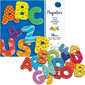 Amazon Djeco Wooden Magnet Alphabet Letters Toys Games