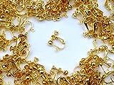 【ピンクゴールド通販広場】イヤリングパーツ ゴールド 20個 (丸皿タイプ)