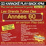 "CD Karaoké Play-Back KPM Vol.38 ""Tubes Années 60 Au Masculin"""