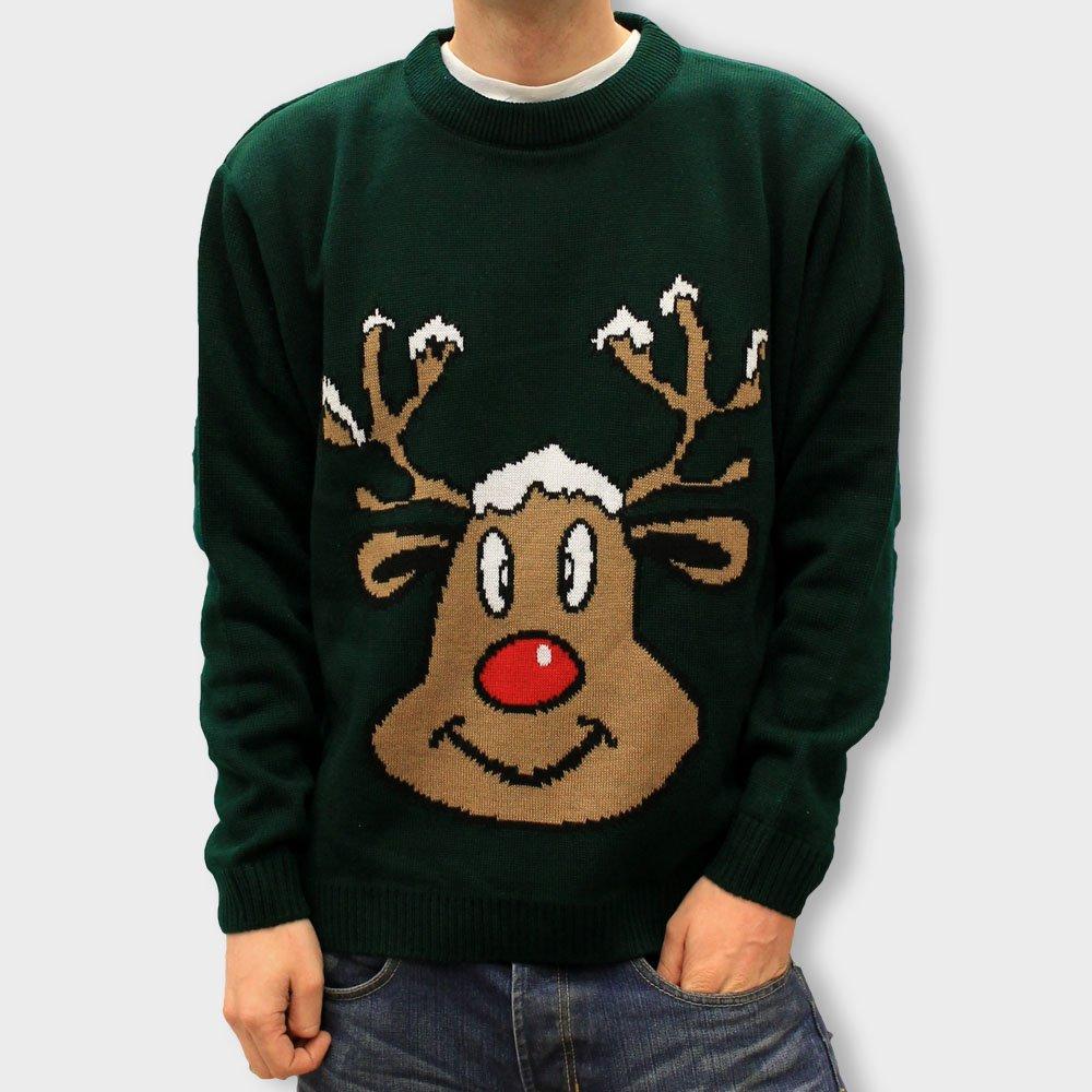 Smiling Reindeer Christmas Jumper