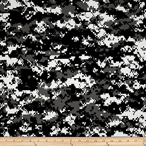 Urban Camouflage Black/White/Grey Fabric By The Yard (Digital Camouflage Fabric compare prices)