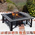 Suntastic Square Slate Fire Pit by SunTastic