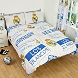 Real Madrid Double Duvet Cover Bedding Set Patch Design + Colour Changing Football Light