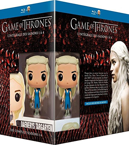 Game of Thrones (Complete Seasons 1-4) - 19-Disc Box Set & Daenerys FUNKO Figurine ( Game of Thrones - Seasons One to Four (40 Episodes) ) [ Blu-Ray, Reg.A/B/C Import - France ]
