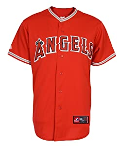 MLB Youth Los Angeles Angels Scarlet Alternate Replica Baseball Jersey by Majestic