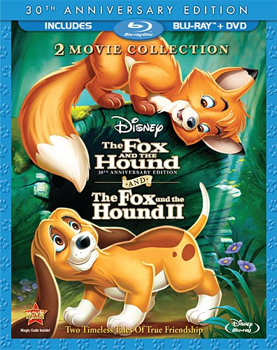 Cover art for  The Fox and the Hound / The Fox and the Hound Two (Three-Disc 30th Anniversary Edition Blu-ray / DVD Combo in Blu-ray Packaging)