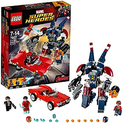 LEGO - 76077 - Marvel Super Heroes - Iron Man : L'attaque de detroit Steel