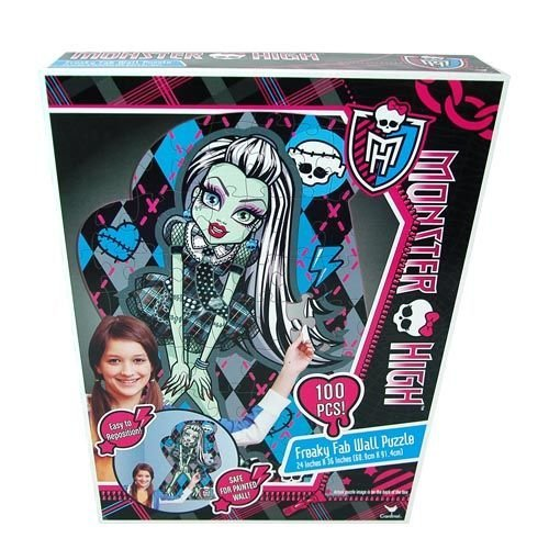 Monster High 100 Piece Repositionable Wall Puzzle - Kids Room