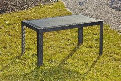 MUNDUKU tavolo in rattan Urano, 140x 80cm, Anthrazite