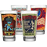 ICUP Grateful Dead Poster Pint Glass (4 Pack), Clear