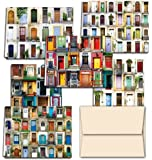 Display of Doors 36 Note Cards for $9.99 with 6 Different Images Including Tan Envelopes.