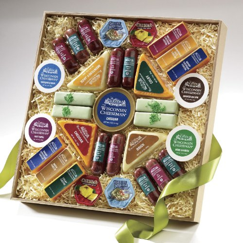 Wisconsin Cheeseman The Big Show Food Gift Assortment