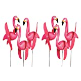 OTC - Mini Pink Flamingoes Whirly-gig twirling Wings Lawn Ornaments (1-Pack of 6) (Tamaño: 1-Pack of 6)