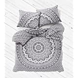 Mandala Printed Duvet Cover, Reverse Cover ,Bedspread Quilt Cover , Pure Cotton (Double/ Queen Size ) - B01N4VR1HH