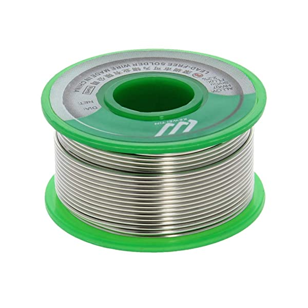 Utoolmart Lead Free Solder Wire 1.2mm Dia 100g Soldering Tin Wire Silver for Electrical Soldering and DIYs 1pcs (Color: 1pcs, Tamaño: 1.2mm)