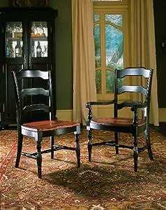 Hooker Furniture Indigo Creek Dining Arm Chair In Rub Through Black Kitchen Home