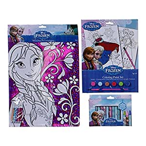 Amazon.com: Disney Frozen Anna Foil Coloring Sheet with 5