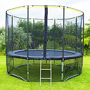 Rebo Air Launch 4K Trampoline With Halo Enclosure and FREE Ladder, Cover, Safety Skirt & Anchor Kit Worth £100 (8FT)