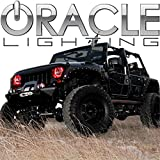 Oracle Lighting JE-RR0713P-R - Jeep Wrangler Plasma Halo Headlight Rings - Red