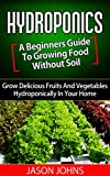 Hydroponics : A Beginners Guide To Growing Food Without Soil: Grow Delicious Fruits And Vegetables Hydroponically In Your Home