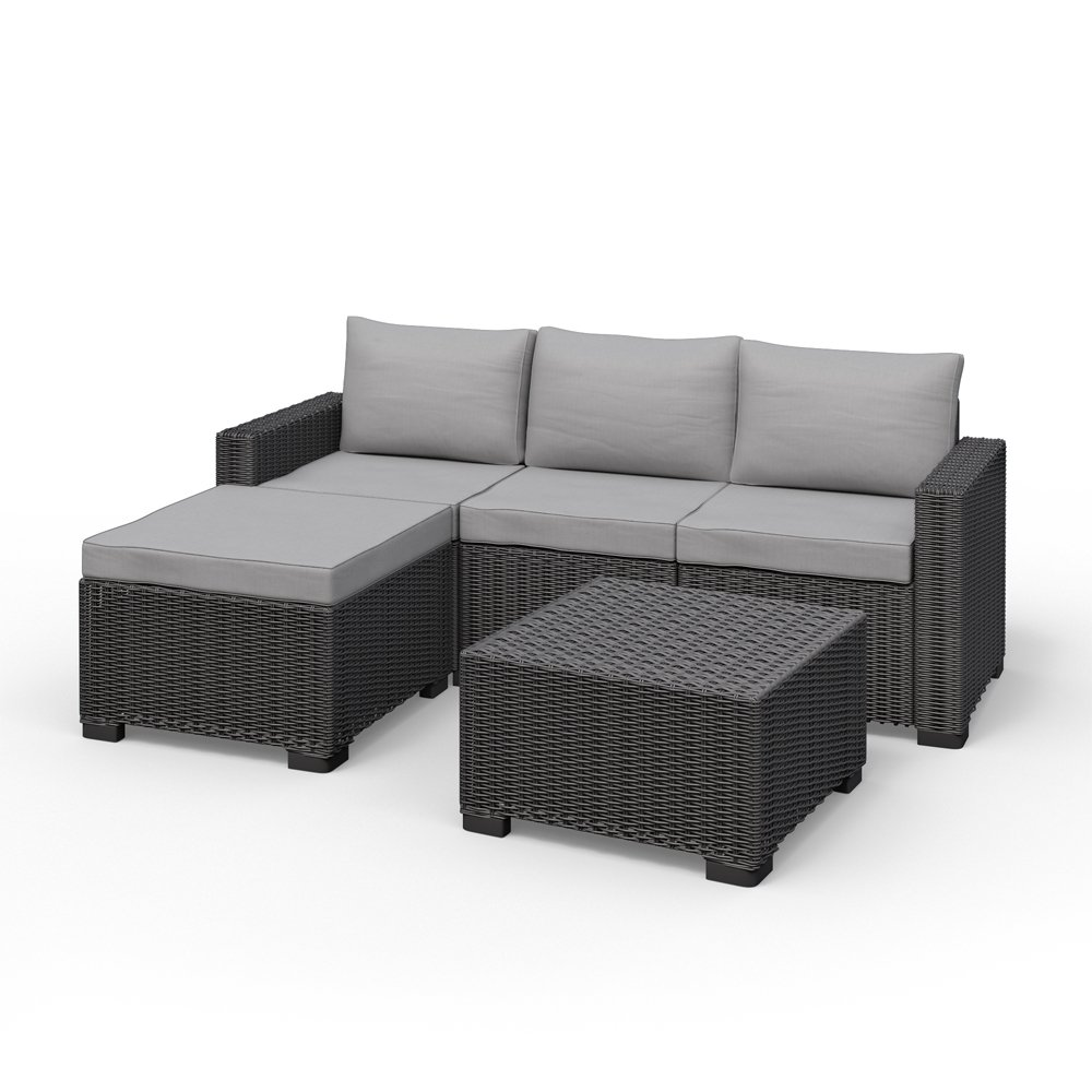 Allibert California Eck Lounge Set Polyrattan Gartenmöbel Rattanoptik Sitzgruppe bestellen