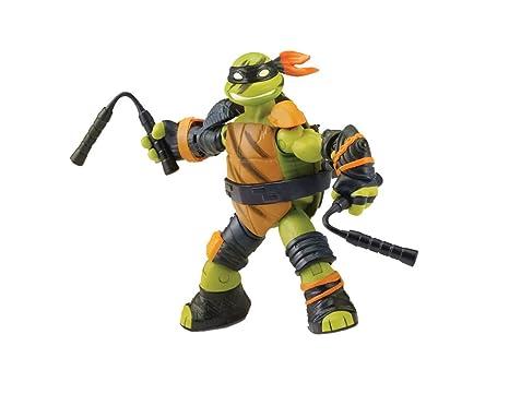 TMNT TUA782 Figurine Articulée Super Ninja avec Accessoires - Mikey, 12 cm