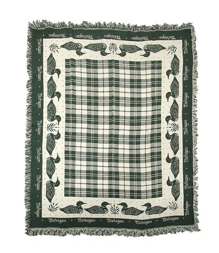 Michigan Ducks Water Fowl Sport Hunting Afghan Throw Blanket