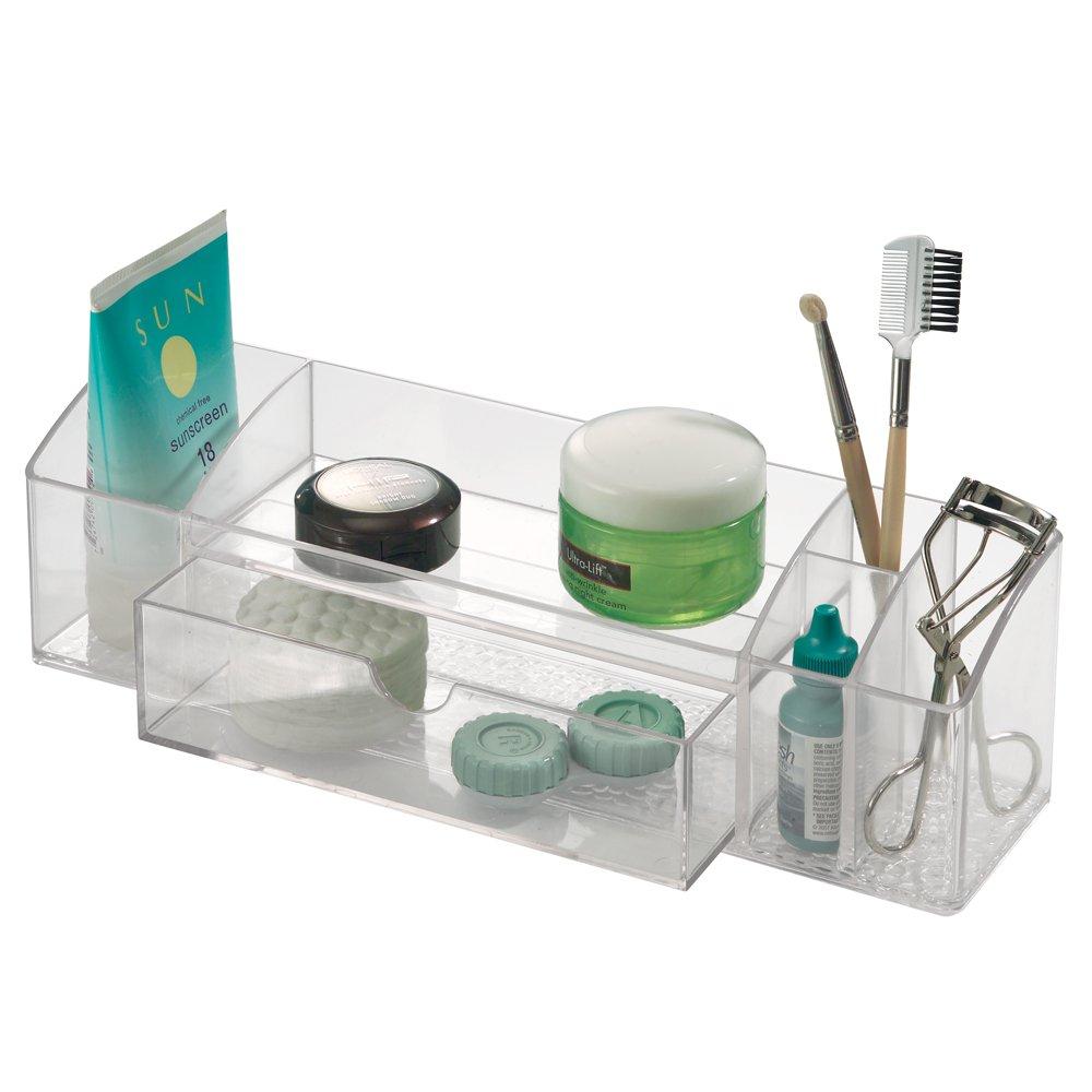 3pc organizer cosmetic home bathroom storage clear durable for Bathroom accessories organizer