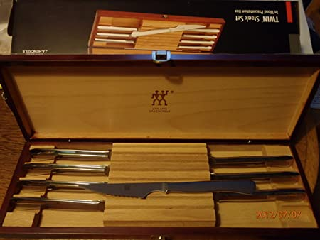 J.A. Henckels S.O.S. 8-Piece Stainless-Steel Steak Knife Set in Wood Gift Box