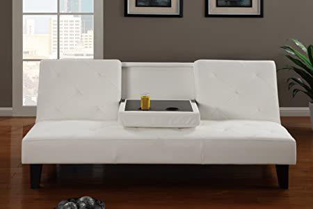 Adjustable Sofa in White by Poundex
