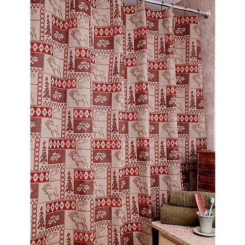 Amazon Elk Patchwork Shower Curtain NEW SALE PRICE
