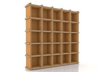 FLUA 55 libreria ecodesign modulare in cartone