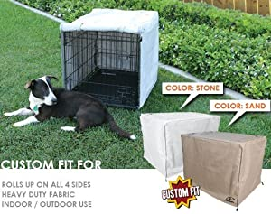 "AP Crate Cover Fits Midwest® Select 3 Door 1300TD crates 36"" X 23"" X 25"" - Stone-Grey Color"