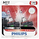 Philips H11 X-tremeVision Upgrade Headlight Bulb, 2 Pack