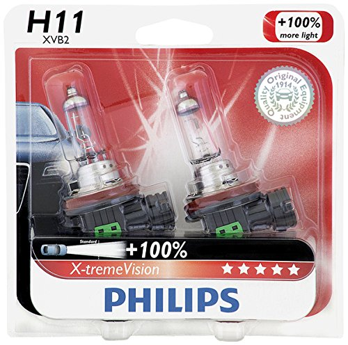 Philips H11 X-tremeVision Upgrade Headlight Bulb, 2 Pack (Mitsubishi Lancer 2012 Headlight compare prices)