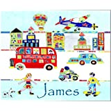 child's placemat, cars placemat,personalised table mat.by tigerlilyprints