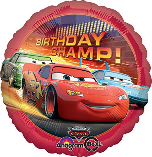 Anagram International Cars Birthday Champ Foil Balloon Pack, Multicolor