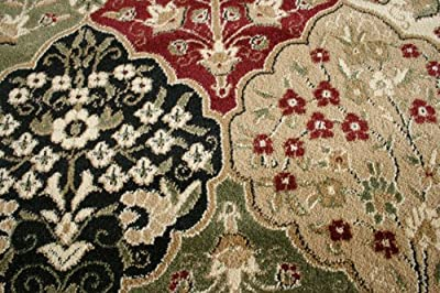 Traditional Panal Red Wool Persian Area Rugs New City Collection