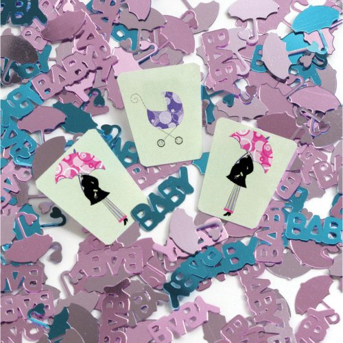 Mod Mom Baby Shower Confetti front-1011763