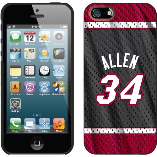 Great Price Ray Allen - Road Jersey Back design on a Black iPhone 5s / 5 Thinshield Snap-On Case by Coveroo