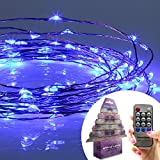 Homestarry® String Lights PRO -120 Blue LED's on a Flexible Copper Wire 20 Ft - Perfect for interior or patio environments. Add romantic light to your Bedroom, accent artwork in your Living Room or scatter on bushes and trees around your Patio. Remote Con