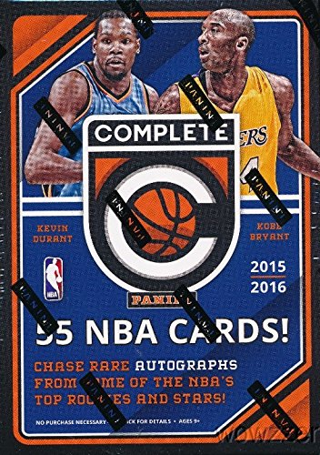20152016-Panini-Complete-NBA-Basketball-Factory-Sealed-Retail-Box-with-11-Packs-an-11-Silver-Parallels-Look-for-Rookies-Autographs-of-Karl-Anthony-Towns-Kristaps-PorzingisDAngelo-Russell-More