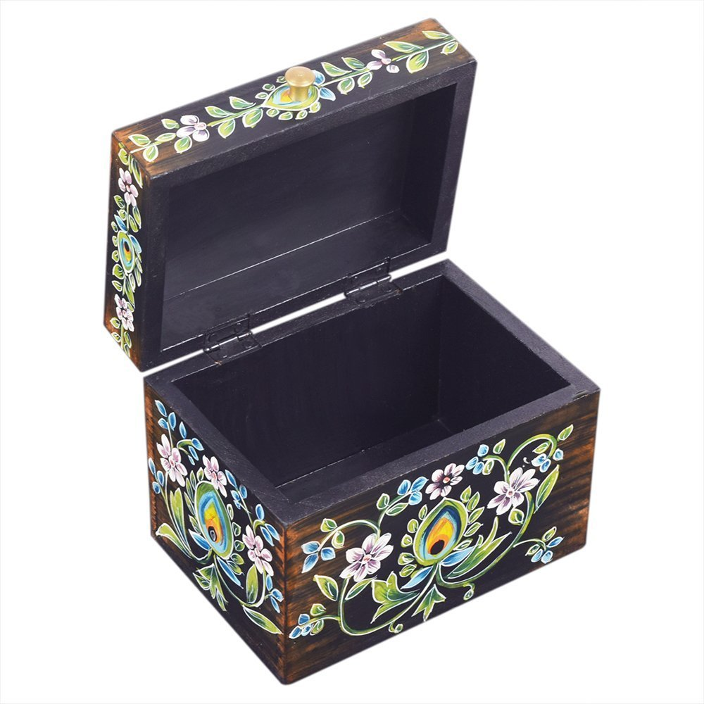 Jewelry Holder Organizer Multipurpose Hand Painted Floral
