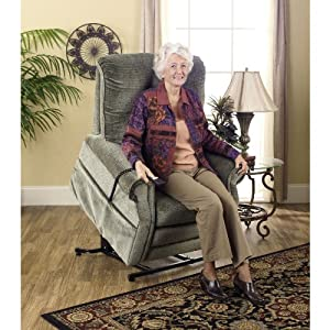 Celery Catnapper Patriot Power Lift Full Lay-Out Oversized Recliner Chair