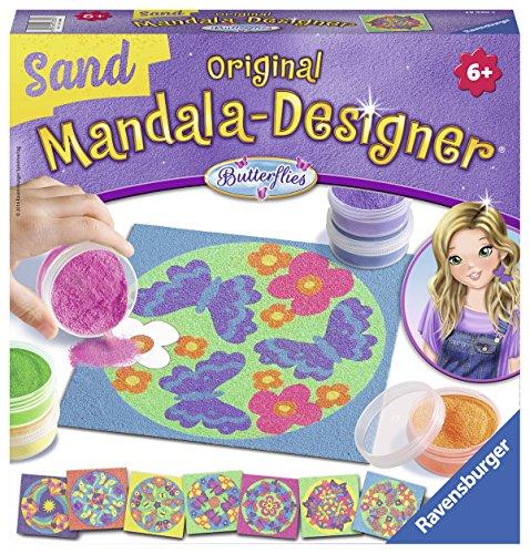 Ravensburger - Mandala Designer Sand Butterflies, con 8 modelos y 6 frascos de arena (299010)