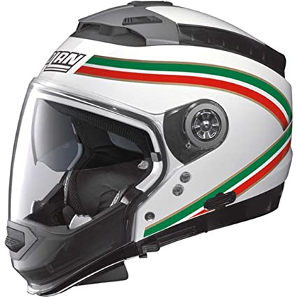 Nolan - Casque - N44 ITALY N-COM - Couleur : metal white - Taille : S