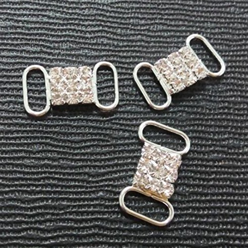 Great Features Of Crazy Genie 30pcs Crystal Rectangle Clothing Buckle Rhinestone Connector Bikini Co...