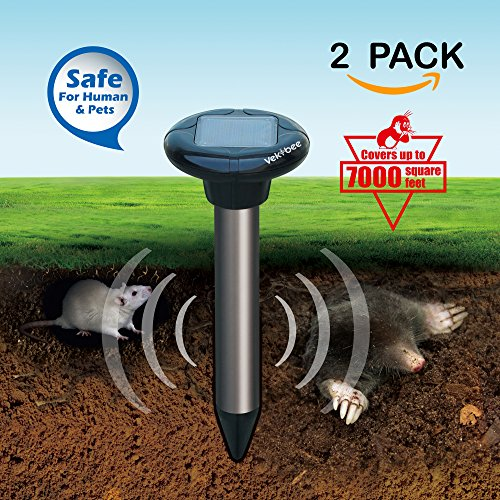 vekibee-2-piece-solar-powered-sonic-pest-repeller-mole-repellent-repels-mole-rodent-vole-shrew-gophe