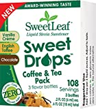 Sweet Drops Assorted Flavor Pack Vanilla Crème, Toffee, Chocolate